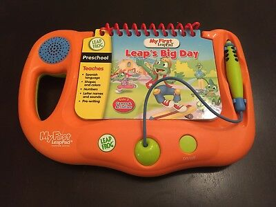LEAP FROG - MY FIRST LEAP PAD  Orange, Leap's Big Day Teaches Spanish Language