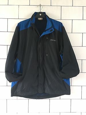 Reebok Mens Urban Vintage Retro Black Polyester Athletic Jacket Size Large