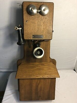 Antique Telephone Chicago double box (282)