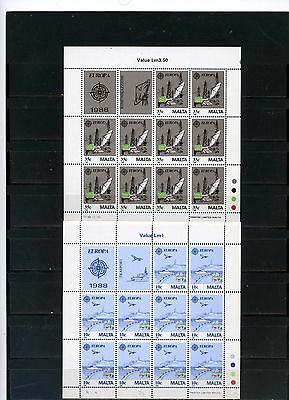 MALTA 1988 Sc#718-719 EUROPA 2 SHEETS OF 10 STAMPS MNH