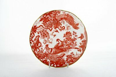 Royal Crown Derby - Aves - Red - A74 - Starter / Salad / Dessert Plate - 72552G