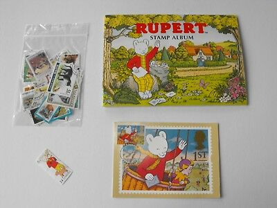 GREAT GIFT _ RUPERT BEAR Stamp Album and stamps (Small)###last one#######