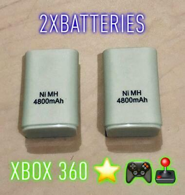 2 x Xbox 360 Rechargeable Battery Pack for Wireless Controller Twin Pack UK