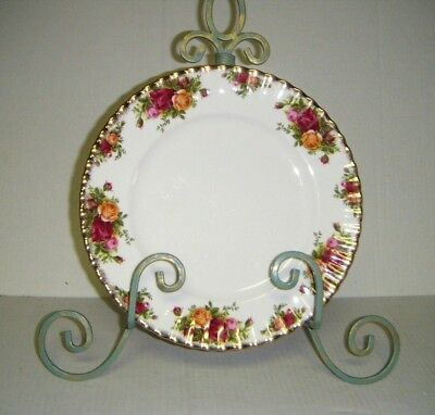 "Royal Albert 1962 England OLD COUNTRY ROSES 10 1/4"" Dinner Plates (Set of 4)"