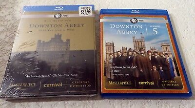 Downton Abbey Seasons One and Two Blu-ray 2012 New and Season Five Used