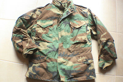 Camo Military M-65 Field Coat Camouflage Army M65 Tactical Vintage Jacket  Sz Med fd92cbd272b