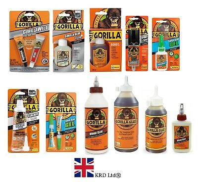 Genuine GORILLA GLUE Products Multi-Purpose Super Glue Gel Strong Adhesive UK