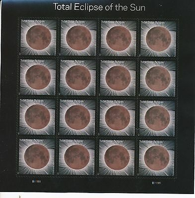 TOTAL ECLIPSE OF THE SUN SOLAR MOON STAMP SHEET  & protective sleeve