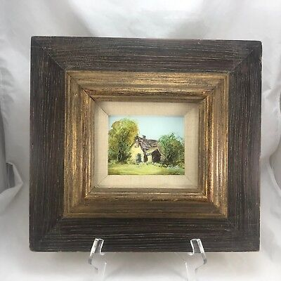 Oil Paintings of Old Barn House Signed and Framed