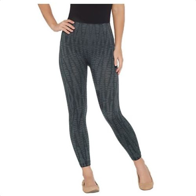 f5fec4707 Spanx Cropped Look At Me Now Seamless Leggings Size 1X Black Geo Color