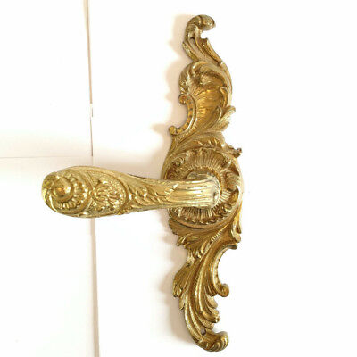 VTG GOLD GILT DUMMY DOOR HANDLE LEVER SHERLE WAGNER STYLE ROCOCO Heavy SPAIN