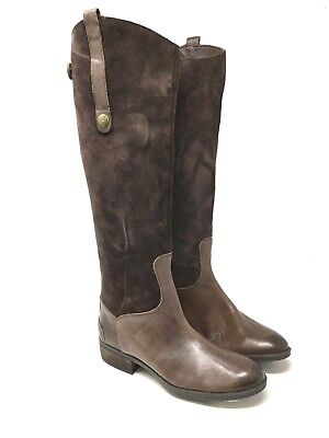 1f8af8917bf9 SAM EDELMAN NEW Pembrooke Tall Knee Leather Suede Zip Riding Brown ...