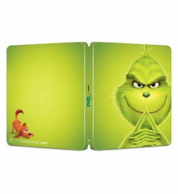 The Grinch (Blu-ray, 2019) NEVER WATCHED BLU-RAY ONLY IN BEST BUY STEELBOOK