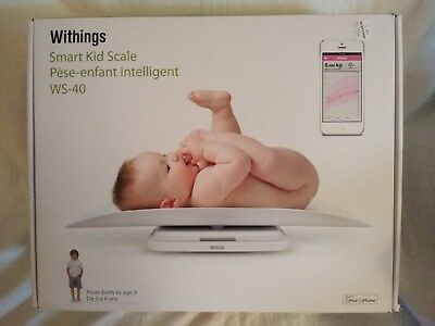 Withings Smart Kid Scale Baby to Toddler to 55 lbs. WS-40 White Wi-Fi
