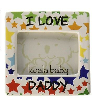 """NIP New """"I Love Daddy"""" Magnetic Photo Picture Frame by Koala Baby"""