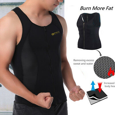 65ceff202c Men Neoprene Sauna Suit Hot Thermo Sweat Body Shaper Waist Trainer Corset  Vest 8