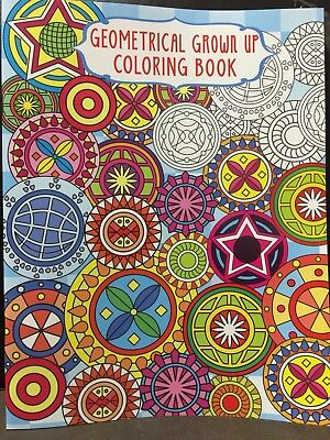 New - Adult Geometrical Colouring Book - Design 1 - 24 Pages