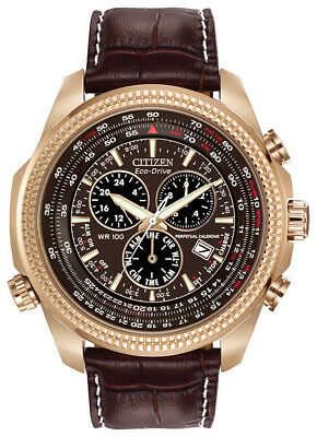Citizen Eco-Drive Men's Perpetual Calendar Chronograph 48mm Watch BL5403-03X