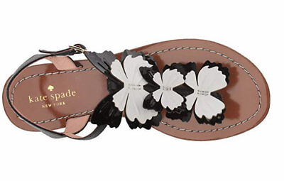 194adc515 Kate Spade New York CELO Butterfly Thong Flat Sandals Black White Choose  Size