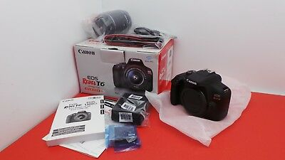 New Canon EOS Rebel T6 18.0MP DSLR Camera Kit with EF-S 18-55mm IS II Lens
