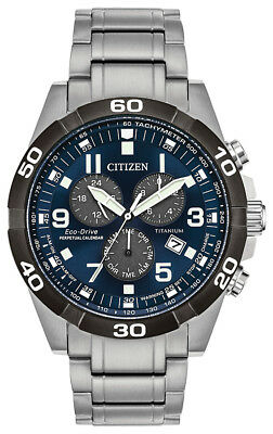 Citizen Eco-Drive Men's Brycen Titanium Chronograph Band 43mm Watch BL5558-58L