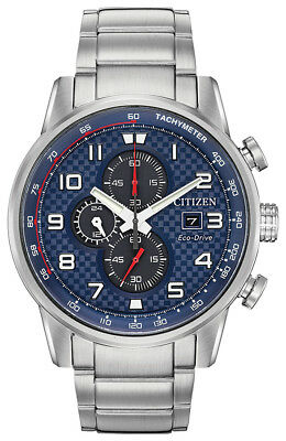 Citizen Eco-Drive Men's Primo Chronograph Silver Bracelet 45mm Watch CA0680-57L