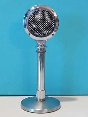 Vintage Rare 1939 American B-9 Microphone With Stand Old Antique Deco Shure Deco