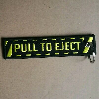 PULL TO EJECT.  Remove Before Flight Tag  Keyring.  AVGEEK.