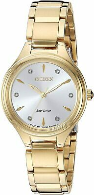 Citizen Eco-Drive Women's Corso Diamond Accents Bracelet 29mm Watch FE2102-55A