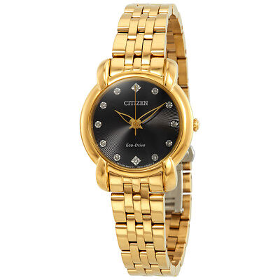 Citizen Eco-Drive Women's Jolie Quartz Gold-Tone Bracelet 30mm Watch EM0712-59E