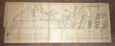 1884 Scetch Map with Chart L Isthme Suez Suivant L Axe Canal Maritime, Port Said