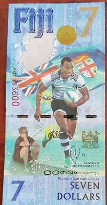 Fiji $7 Currency Note Fiji Rugby 7s Gold Rio OIympics HSBC World Cup Ben Barber