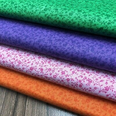 Vintage Two-Tone Calico 100% Cotton Sewing & Quilting Fabric BTY