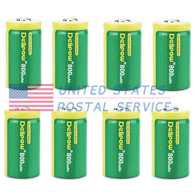 Package of 8 800mAh 3V CR2 Rechargeable Batteries For Remotes Games Controllers