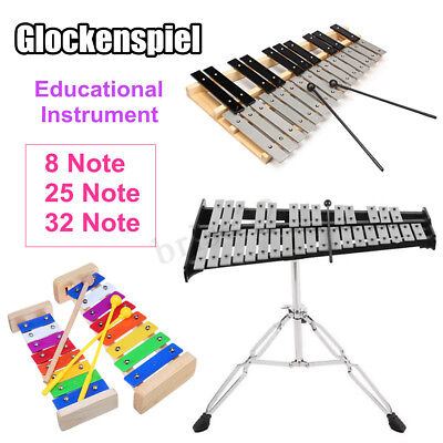 8/25/32 Note Percussion Glockenspiel Xylophone Educational Musical Instruments