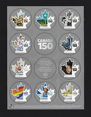 Canada Stamps - Full Pane of 10 - 2017, CANADA 150 Celebration #2999 - MNH