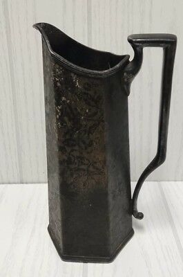 vintage W.B. mfg co. silver plated water pitcher made in U.S.A.