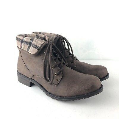 7c892c824328b CLIFFS WHITE MOUNTAIN Womens Combat Boots Neponset Brown Size 10 M