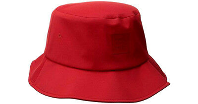 HERSCHEL SUPPLY CO Solid Red Lake Bucket Hat Seamless S m Nwt ... 5b8becab2b33