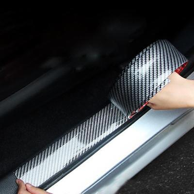 5D Carbon Fiber Car Scuff Plate Door Sill Cover Panel Step Protector Accessories