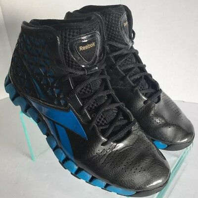 Reebok ZigTech Black Blue John Wall Wizards Basketball Shoes V43531 Men s  Size 8 88f3a4cc8