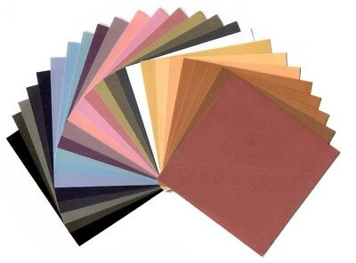 BULK 6x6 Scrapbooking Coloured Papers: NEUTRALS Card Making Stamping 15cm x 15cm
