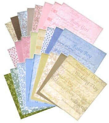 BULK 6x6 Scrapbooking Papers: PROVINCIAL Card Making Wedding Baby Pastels Paper