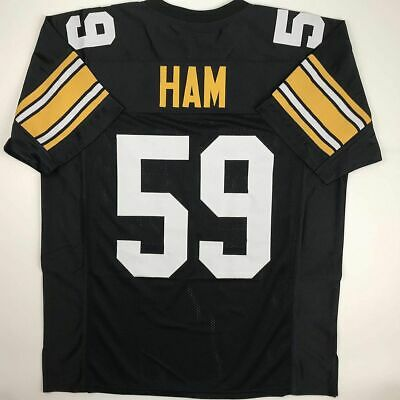 ba84aed2790 New JACK HAM Pittsburgh Black Custom Stitched Football Jersey Size Men's XL