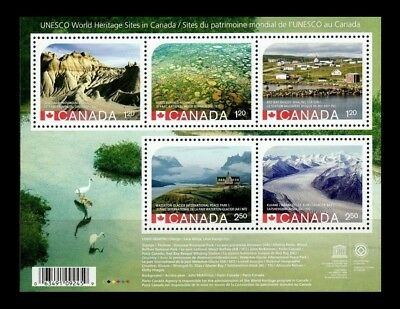 Canada Stamps - Souvenir Sheet - 2015, UNESCO World Heritage #2857 - MNH