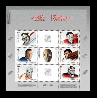 Canada Stamps -Souvenir Sheet -NHL Ice Hockey, Great Canadian Goalies #2866 -MNH