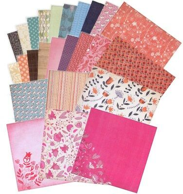 "BULK Grace Taylor 12x12 Scrapbooking Papers: BLOSSOM - 12""x12"" Paper"
