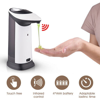 420ml Hands Free ABS Automatic Soap Dispenser Touchless Liquid Shampoo IR Sensor
