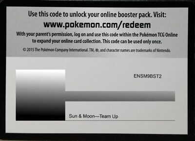 36x Team Up Pokemon TCG Online Booster Codes Email Delivery
