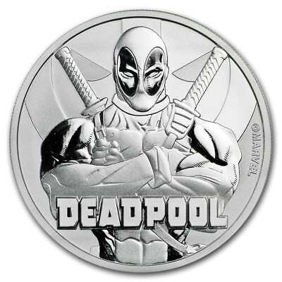 2018 Marvel Series - Deadpool - 1oz .9999 Silver Bullion Coin - The Perth Mint
